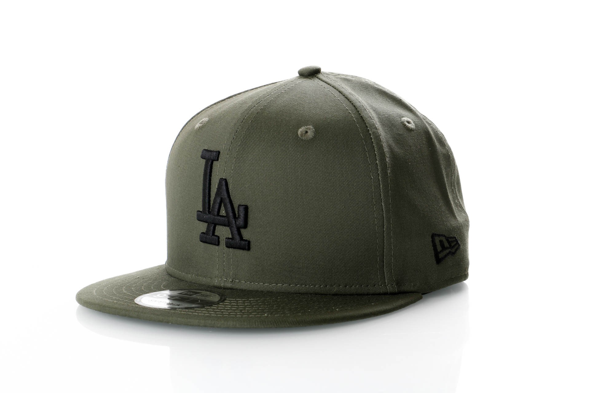 Foto van New Era League Essential 9Fifty 11871487 Snapback Cap New Olive/Black Mlb Los Angeles Dodgers