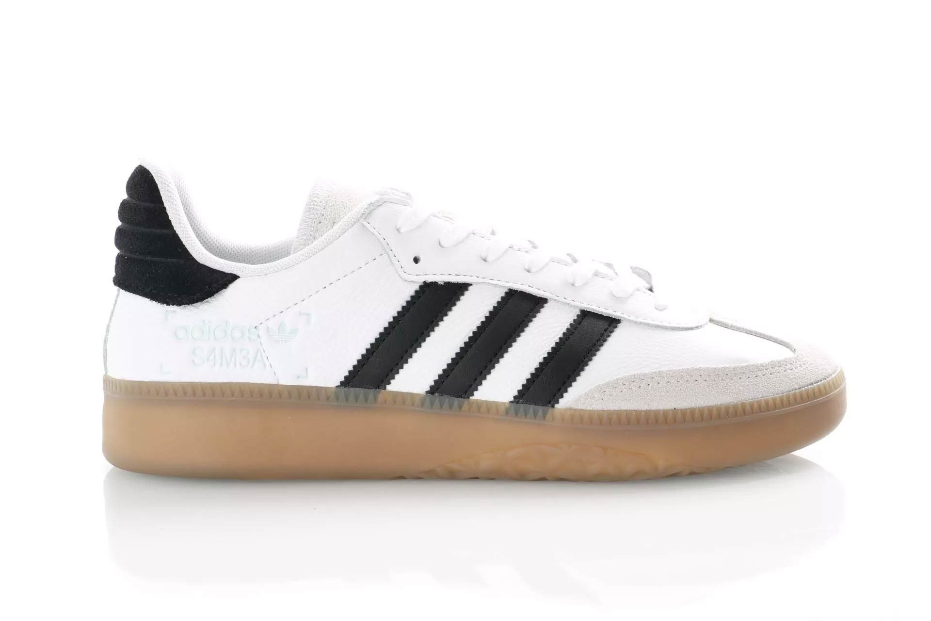Foto van Adidas Samba Rm Bd7537 Sneakers Ftwr White/Core Black/Clear Mint