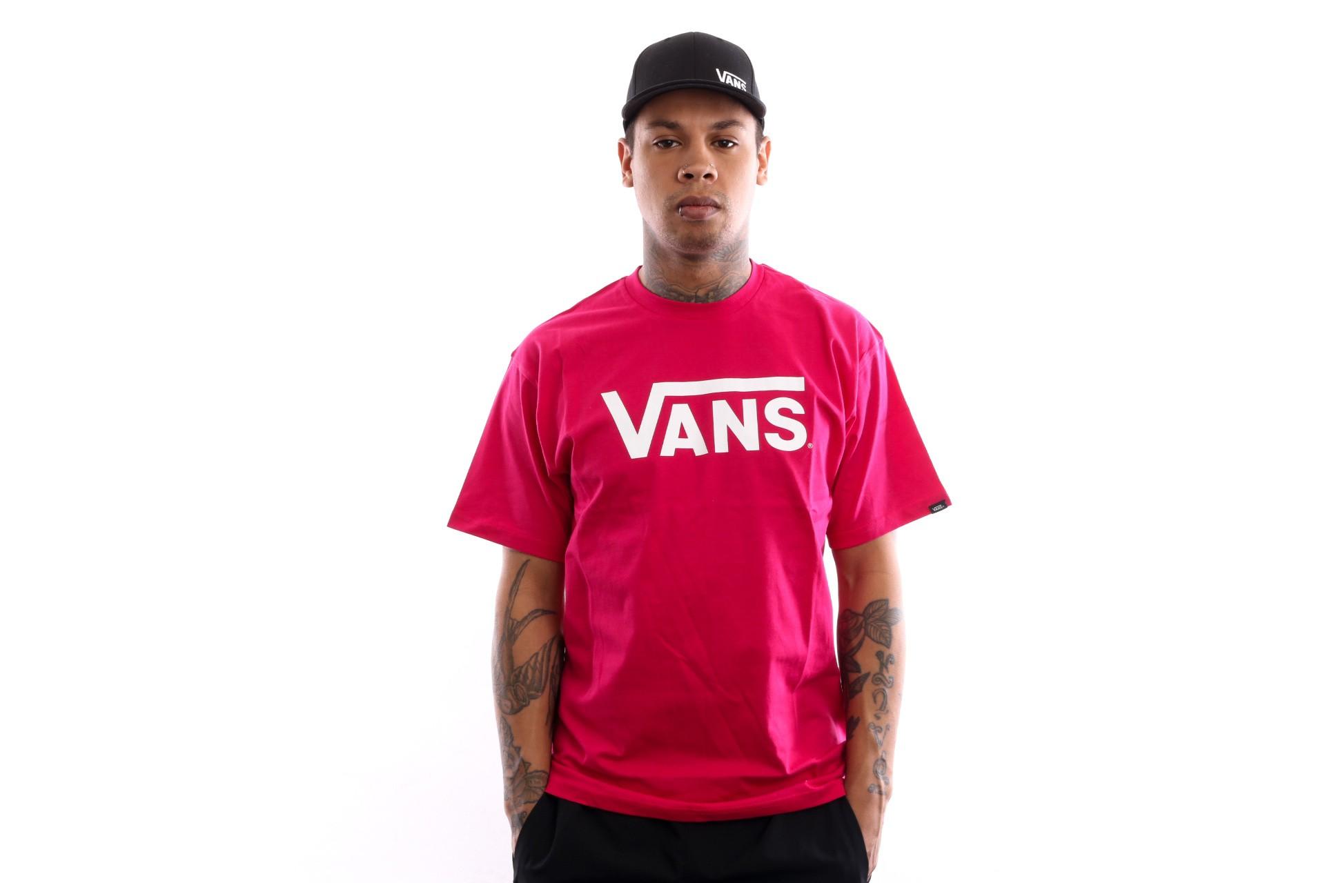 Foto van Vans Vans Classic Vn000Gggtde T Shirt Jazzy-White