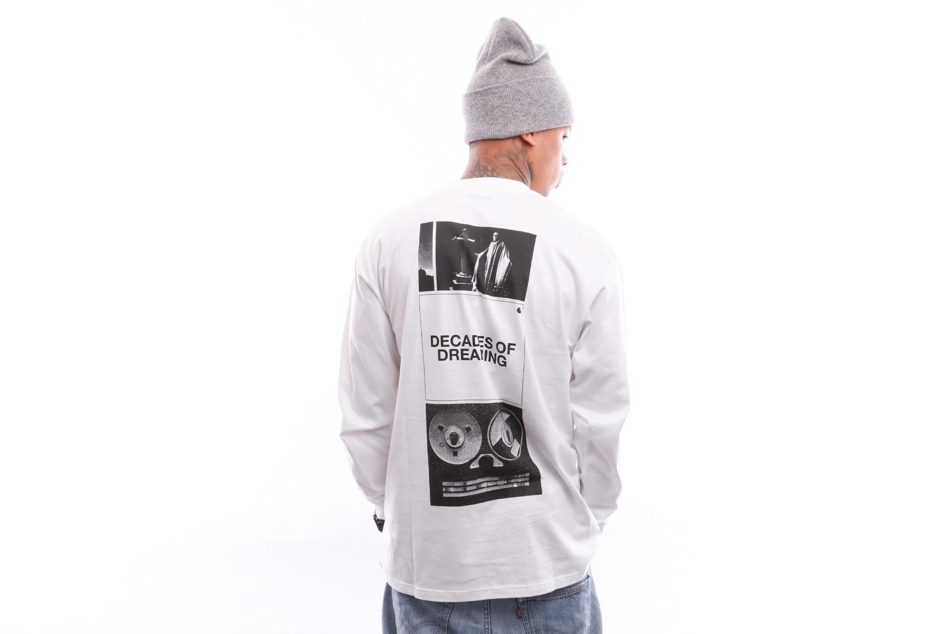 Foto van Carhartt Wip L/S Dreaming T-Shirt I026423 Longsleeve White / Black