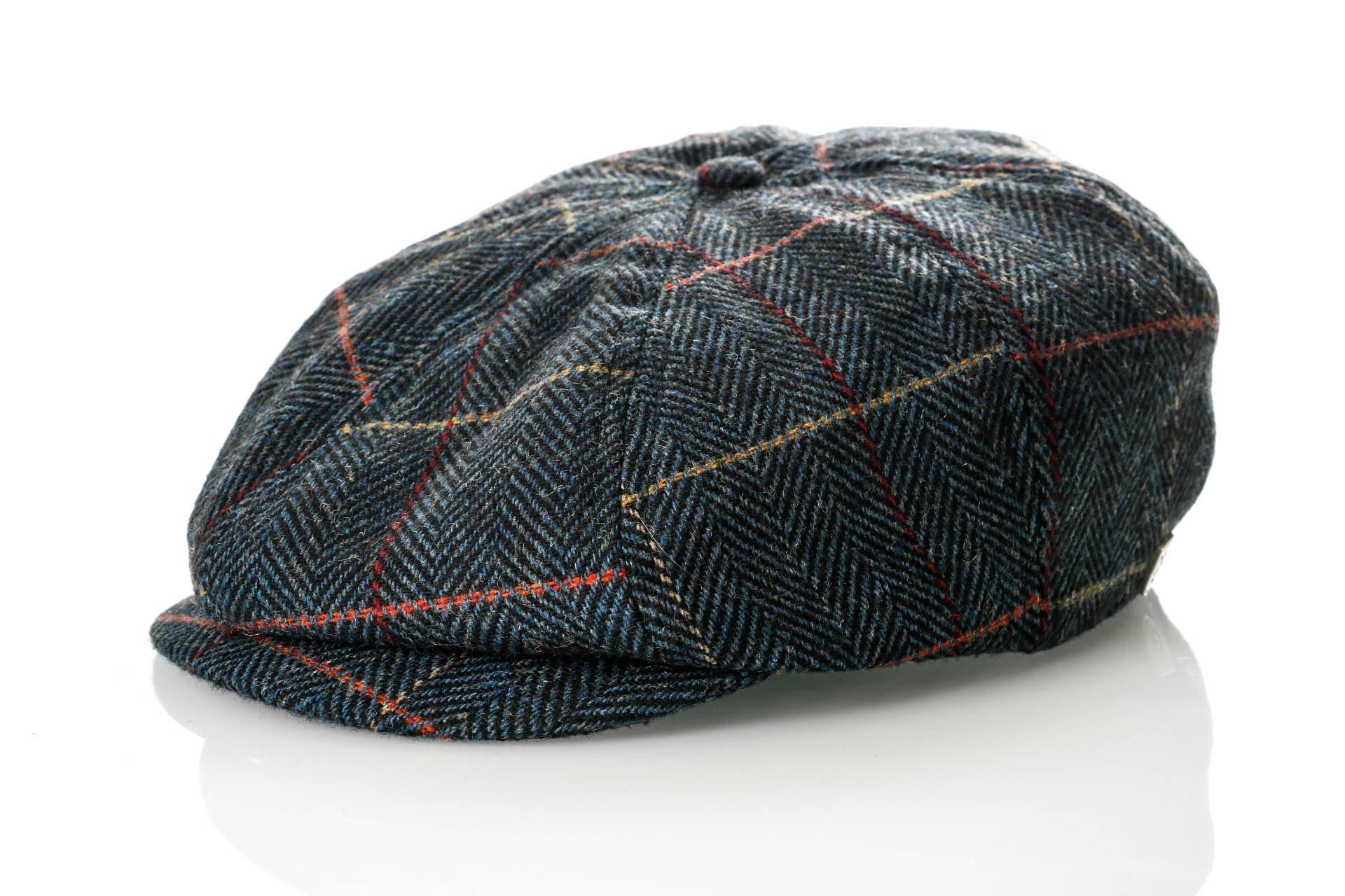 Foto van Brixton BROOD SNAP CAP 6 Flatcap NAVY PLAID