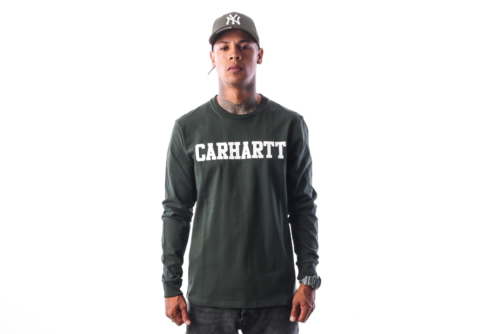 Foto van Carhartt WIP L/S College T-Shirt I024805 Longsleeve Loden / White