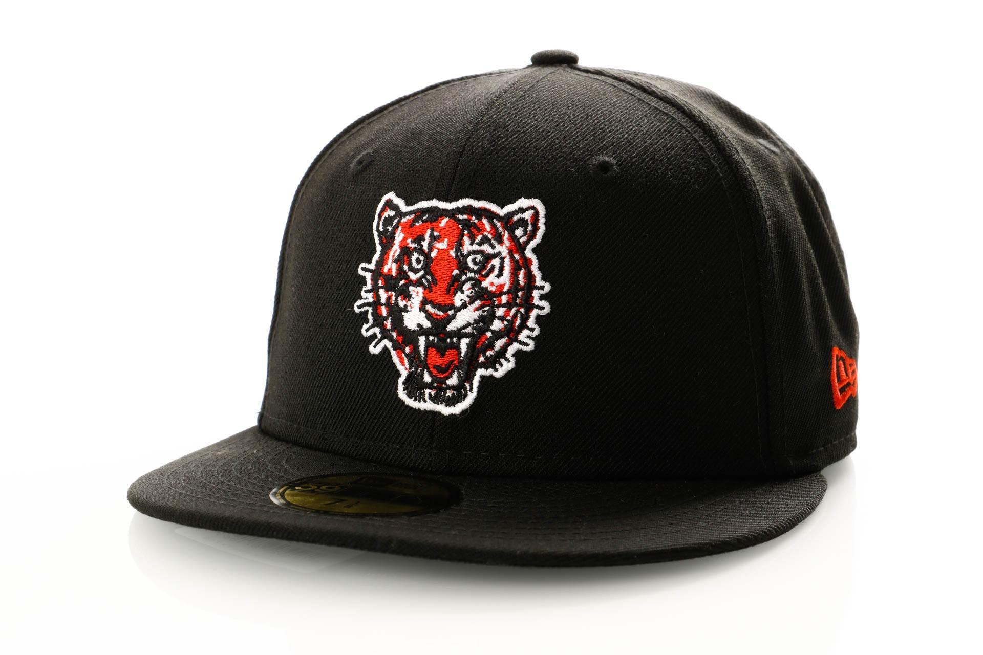 Foto van New Era Coops Wool 11941703 Fitted Cap Navy Detroit Tigers