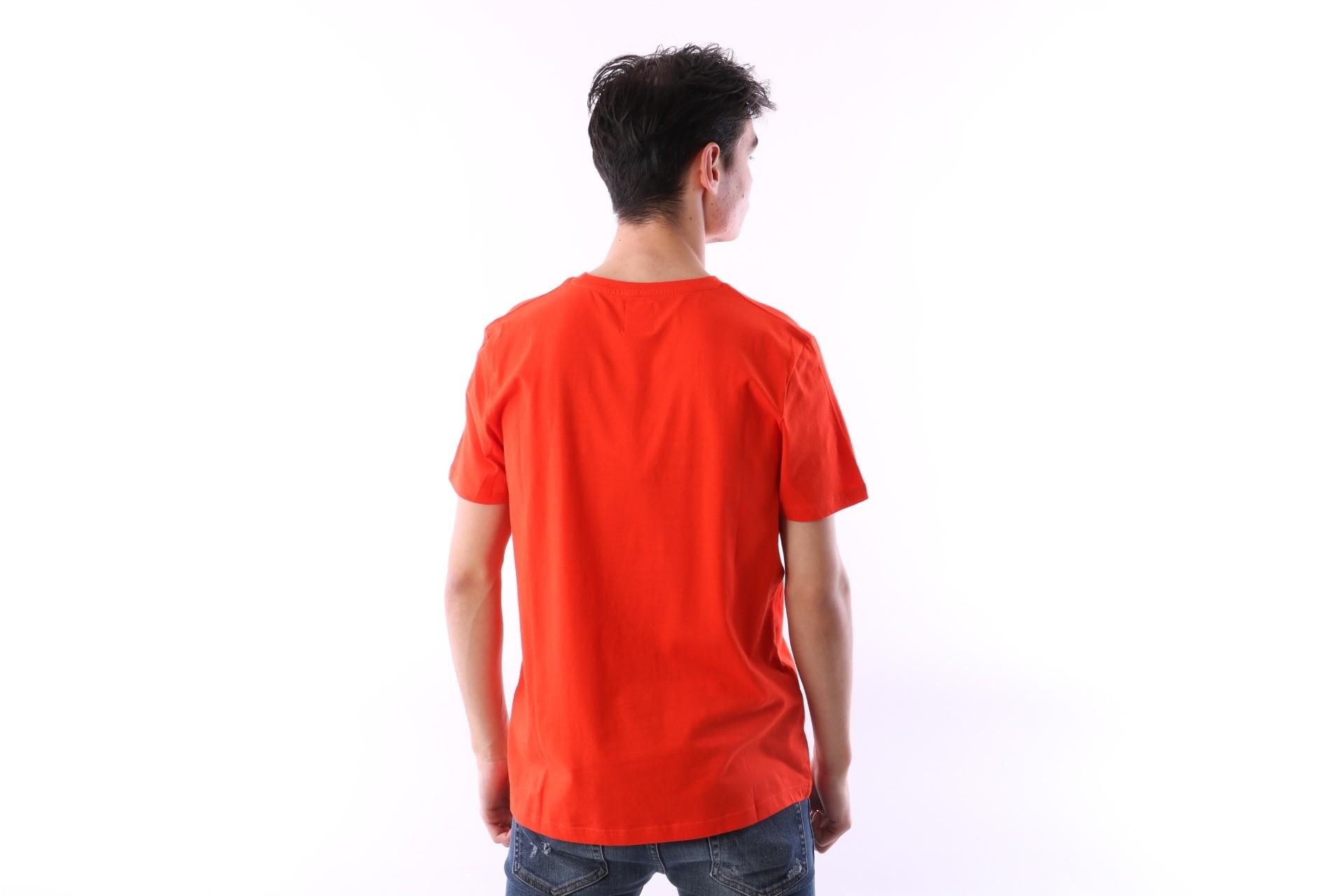 Afbeelding van Kappa 303LRZO-Q17 T-shirt Authentic Estessi Red/orange
