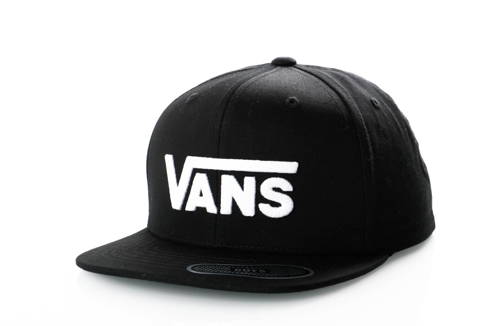 Foto van Vans DROP V II SNAPBACK BOYS VN0A36OUY28 Snapback cap BLACK-WHITE