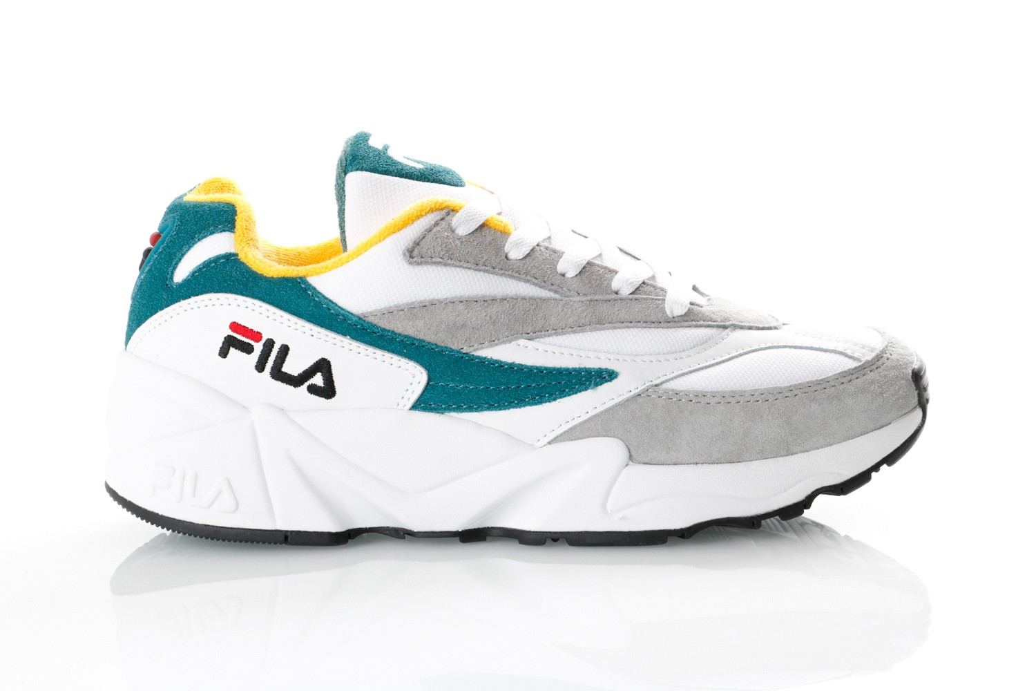 Foto van Fila V94M 1010572 Sneakers gray violet / shaded spruce / inca gold
