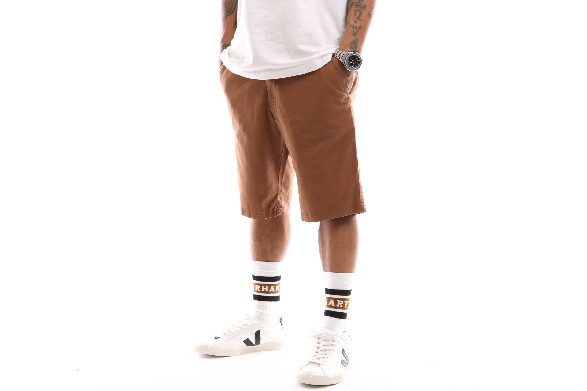 Foto van Reell Flex Grip Chino Short 1203-005 Short Ocre Brown