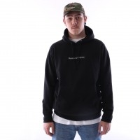 Afbeelding van raised by wolves box logo hooded sweatshirt Black French Terry