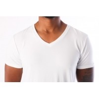 Afbeelding van Levi's Bodywear 972011001-300 T-shirt 200SF v-neck 2-pack Wit