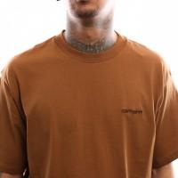 Afbeelding van Carhartt WIP S/S Script Embroidery T-Shirt I025778 T shirt Hamilton Brown / Black