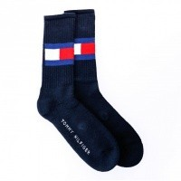 Tommy Hilfiger TH FLAG 1P 481985001 sokken dark navy