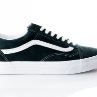 Afbeelding van Vans UA Old Skool VA38G1U5J Sneakers (Pig Suede) darkest spruce/true white