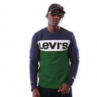 Levi`s Colorblock Crewneck 52604-0001 Blues / Marshmallow / Eden / Black