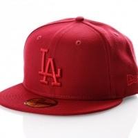 Afbeelding van New Era LEAGUE ESSENTIAL 5950 LOS ANGELES DODGERS 11794693 Fitted Cap CARDINAL MLB