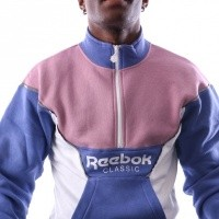 Afbeelding van Reebok CL R HZ UNISEX COVER UP DX0136 Tracktop 1/4 zip LILAC SHADOW F17-R