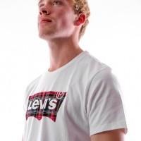 Afbeelding van Levi`s HOUSEMARK GRAPHIC TEE 22489-0174 T Shirt Hm Plaid Fill White