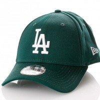 Afbeelding van New Era League Essential 9Forty Los Angeles Dodgers 11794682 Dad Cap Dark Green/Optic White Mlb