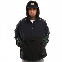Afbeelding van Carhartt Wip Terrace Pullover I026071 Jas Dark Navy / Black / Bottle Green