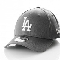 Afbeelding van New Era League Essential 9Forty Los Angeles Dodgers 11794681 Dad Cap Storm Gray/Optic White Mlb