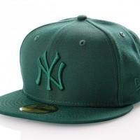 Afbeelding van New Era LEAGUE ESSENTIAL 5950 NEW YORK YANKEES 11794692 Fitted Cap DARK GREEN MLB