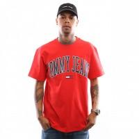 Tommy Hilfiger TJM Collegiate Logo Tee DM0DM05569 T Shirt Flame Scarlet
