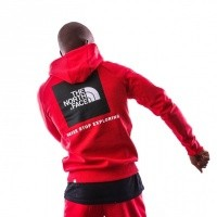 Afbeelding van The North Face M RAGLAN RED BOX HD T92ZWUKZ3 Hooded TNF RED/TNF BLACK