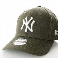 Afbeelding van New Era Kids League Essential 9Forty New York Yankees 80635914 Dad Cap New Olive/Optic White Mlb