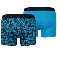 Afbeelding van Levi`s Bodywear LEVIS 200SF LOGO AOP BOXER BRIEF 2P 985017001 Boxershort Black / Blue