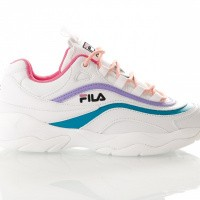 Fila Ray Low wmn 1010562 Sneakers white/very berry / caribbean sea
