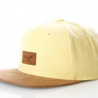 Reell Suede Cap 1402-038 Snapback Cap Light Yellow