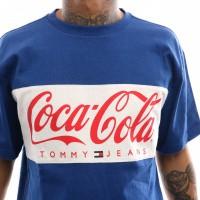 Afbeelding van Tommy Hilfiger TJM Tommy X Coca Cola Tee DM0DM06692 T shirt Sodalite Blue