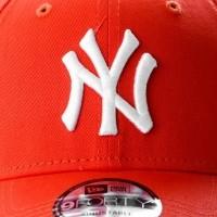 Afbeelding van New Era LEAGUE ESSENTIAL 9FORTY NEW YORK YANKEES 11794680 Dad cap ORANGE/OPTIC WHITE MLB