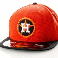 Afbeelding van New Era Diamond Era 21184492 Fitted Cap Orange/Black Mlb Houston Astros