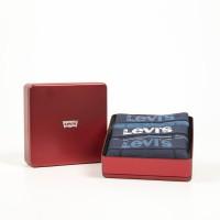 Afbeelding van Levi`s Bodywear GIFTBOX STRIPES BOXER BRIEF 3Pack LEVIS 200SF Boxershort dark blue combo