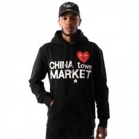 Afbeelding van Chinatown Market Comme De Chinatown CTM-CDCHD Hooded Black
