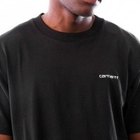 Afbeelding van Carhartt WIP S/S Script Embroidery T-Shirt I025778 T-shirt Black / White