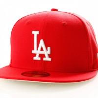 Afbeelding van New Era League Essential 11945532 Fitted Cap Front Door Red Los Angeles Dodgers