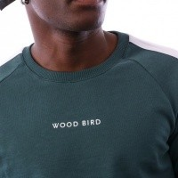 Afbeelding van Wood Bird Kris Goal Crew 1836-613 Navy Garbage Green/Black
