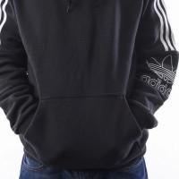 Afbeelding van Adidas Outline Hoodie Dx3850 Hooded Black