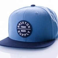 Brixton OATH III SNAPBACK 173 snapback cap GREY BLUE/NAVY