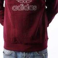 Afbeelding van Adidas OUTLINE CREW DH5764 crewneck MAROON