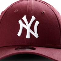 Afbeelding van New Era Kids League Essential 9Forty 11871490 Dad Cap Maroon/Optic White New York Yankees