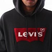 Afbeelding van Levi`s OVERSIZED PULL HOODIE 56629-0000 Hooded Varsity Batwing Black