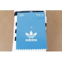 Afbeelding van Adidas Originals S21489 Socks Solid crew Wit 3 pack