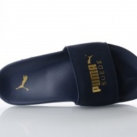 Puma 365758-02 Slide sandal Leadcat suede Blauw