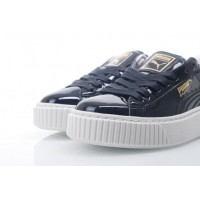 Afbeelding van Puma Ladies 363314-03 Sneakers Basket platform patent Blauw