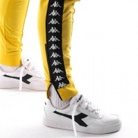 Afbeelding van Kappa Banda Rastoria Slim 303KUC0 Trainingsbroek Yellow Mustard-Black