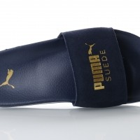 Afbeelding van Puma 365758-02 Slide sandal Leadcat suede Blauw
