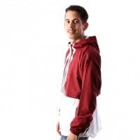 Afbeelding van Adidas AUTH ANORAK DJ2853 jas NOBLE MAROON/WHITE