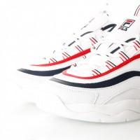 Afbeelding van Fila Ray Low wmn 1010562 Sneakers white/fila navy / fila red